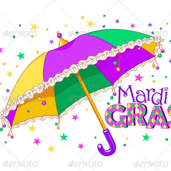 Mardi Gras Umbrella