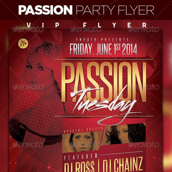 Passion Days Party Flyer