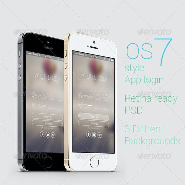 OS 7 Style Phone App login