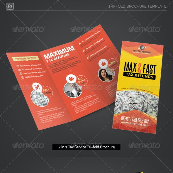 Business Tax Refund Service Tri-Fold Brochure