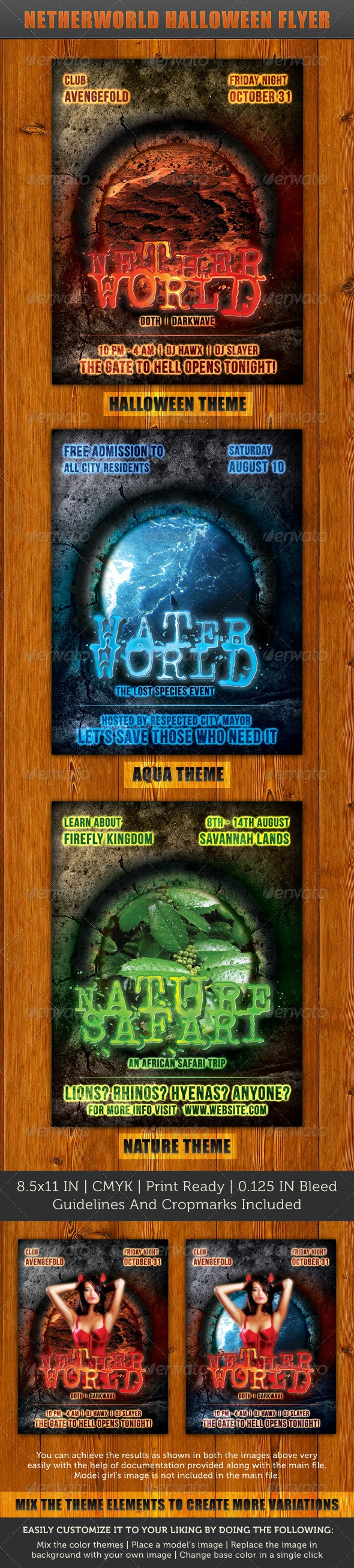 Netherworld Flyer - Clubs & Parties Events