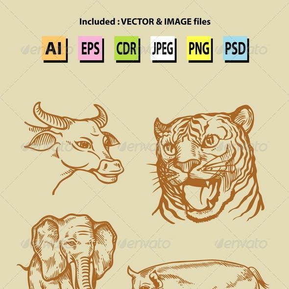 Vintage Animal Sketches