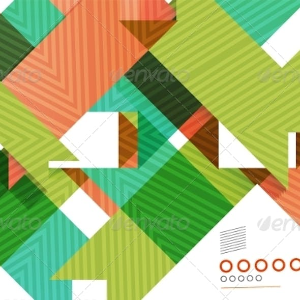 Colorful Geometrical Shapes Abstract Lines