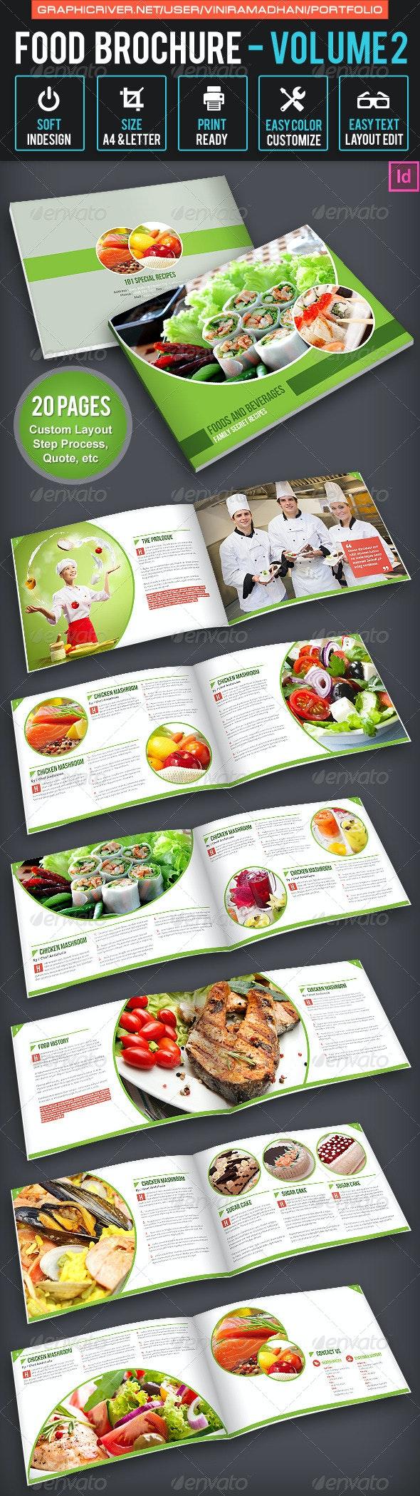 Food Brochure | Volume 2 - Portfolio Brochures
