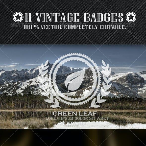 11 Vintage Badges Sign