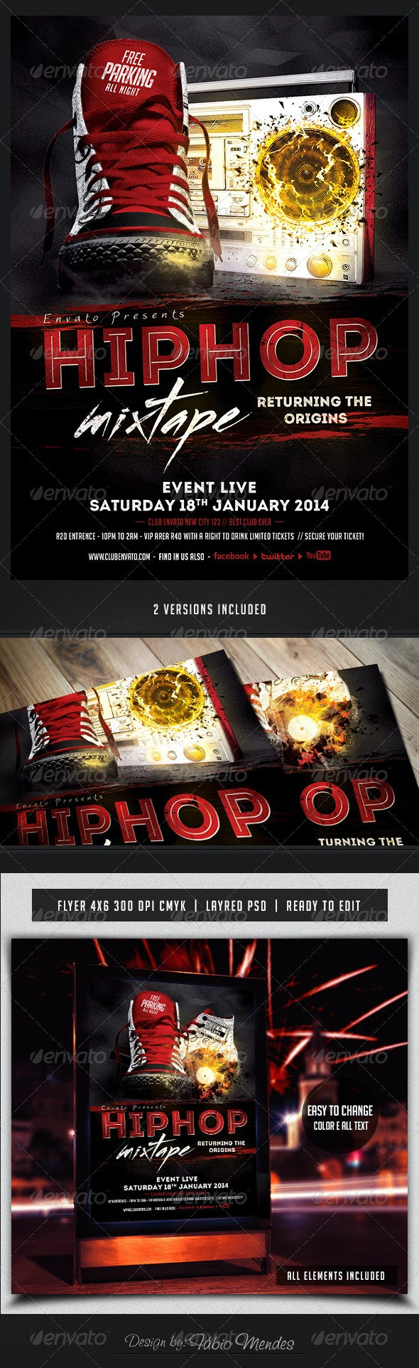 Hip Hop Mixtape Flyer Template - Flyers Print Templates