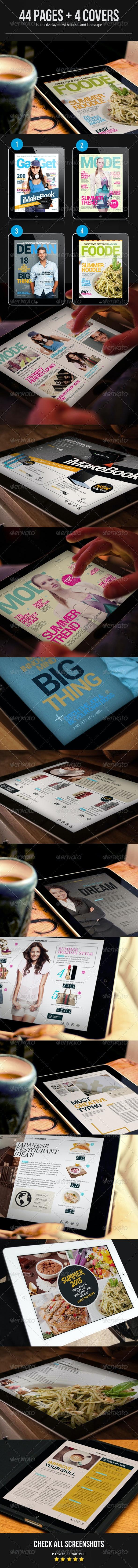 Interactive Magazine Template - Digital Magazines ePublishing