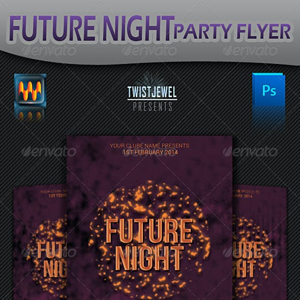 Future Night Party Flyer