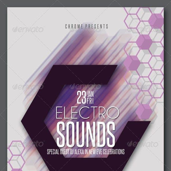 Electro Sounds Hexagon Flyer