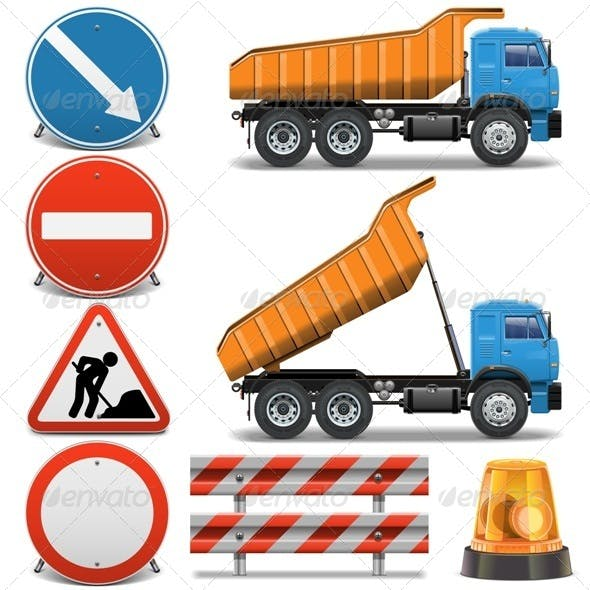 Road Construction Icons Set 2