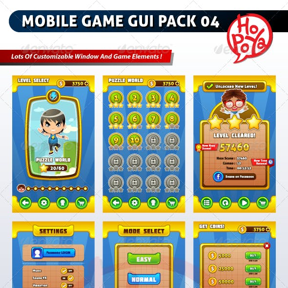 Mobile Game GUI Pack 04