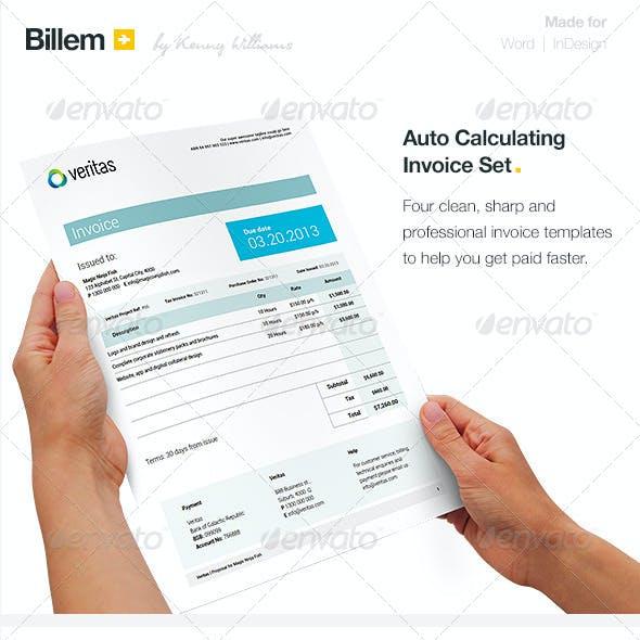 Billem - Invoice Template Set