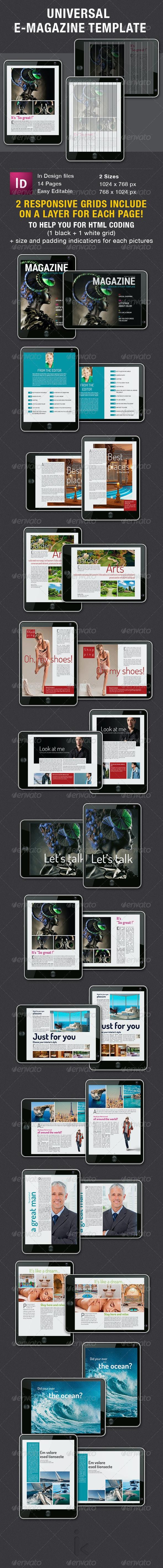 Universal E-Magazine Template - Digital Magazines ePublishing