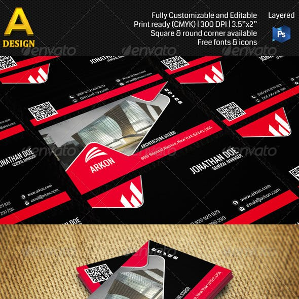Architecture Corporate Business Card AN0163