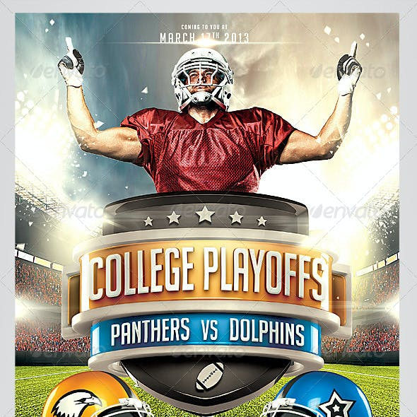 Football Big Game Flyer Template