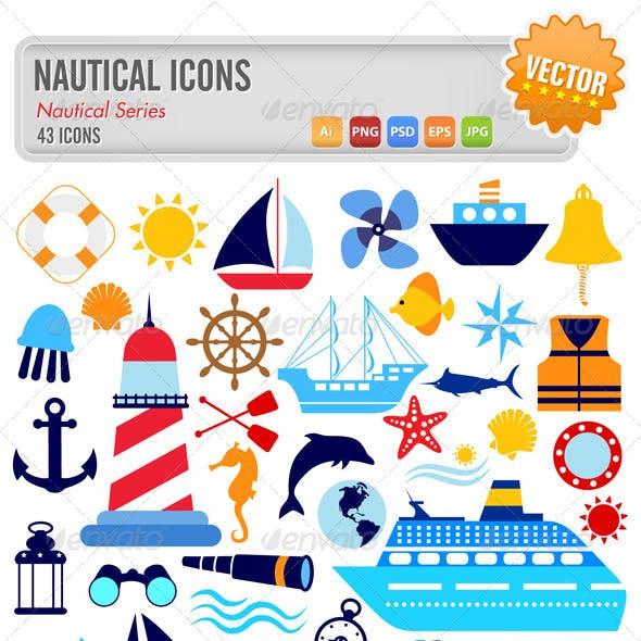 43 Nautical Icons