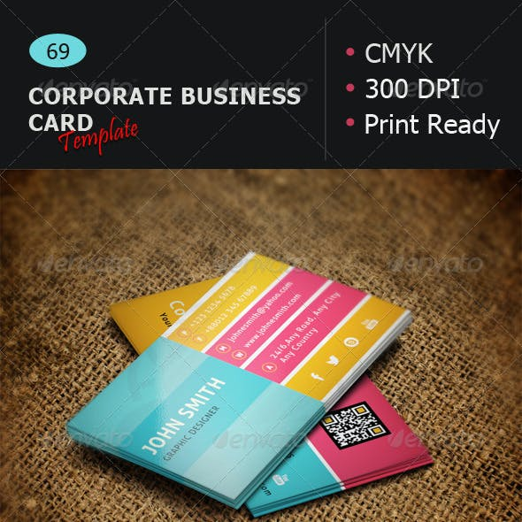 Business Card Template 69