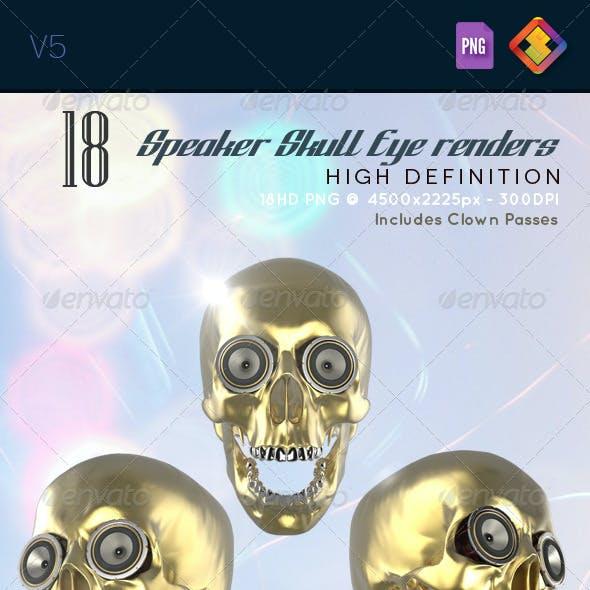 Skull Speaker Eye Renders V5