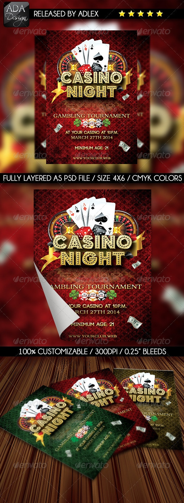 Casino Night Flyer  - Clubs & Parties Events