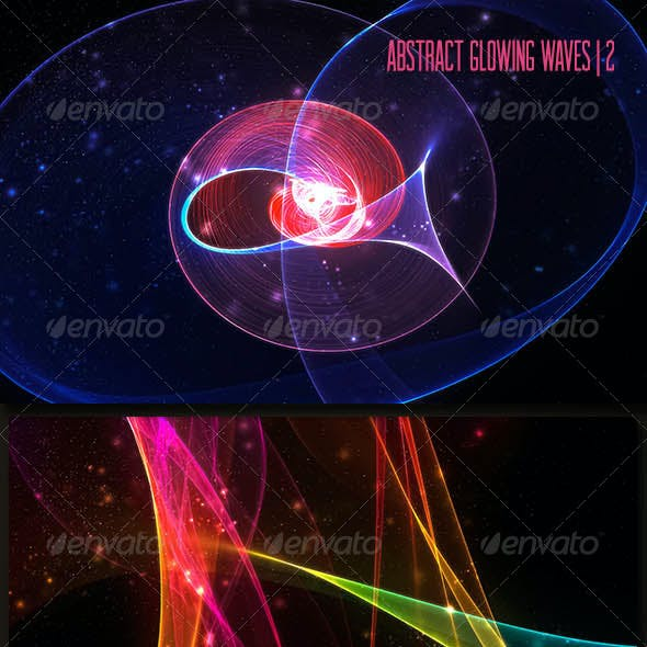 Abstract Glowing Waves | 2