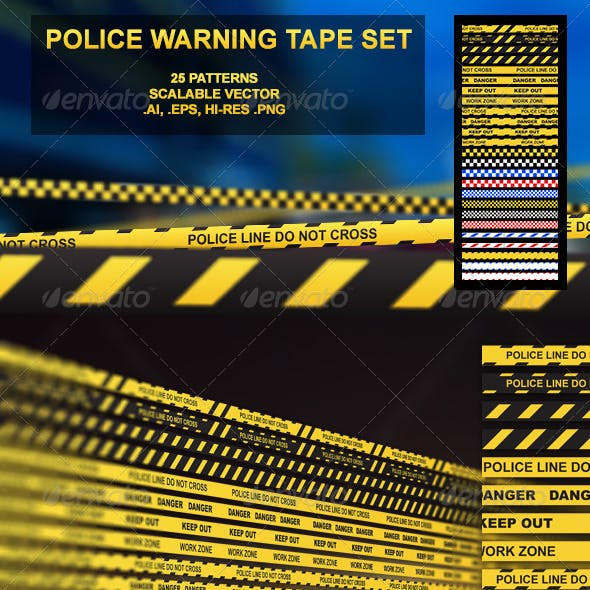 15 Police Warning Tape Set