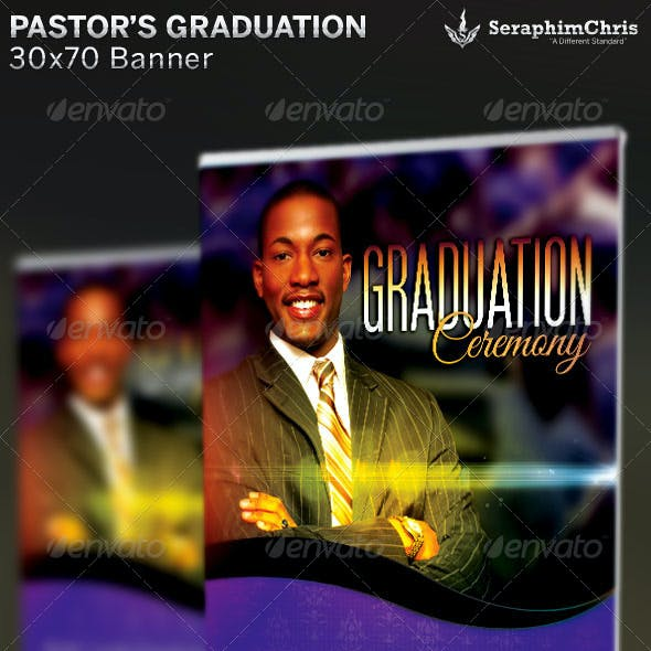 Pastor's Graduation Ceremony: Banner Template