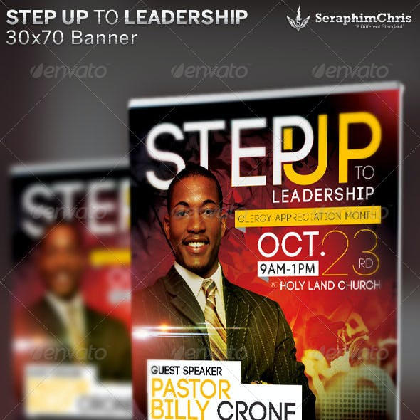 Step Up to Leadership: Church Banner Template