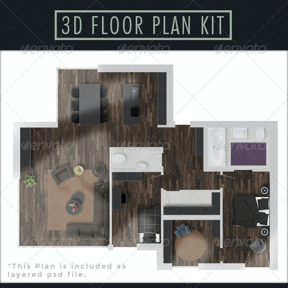 3D Floor Plan Kit