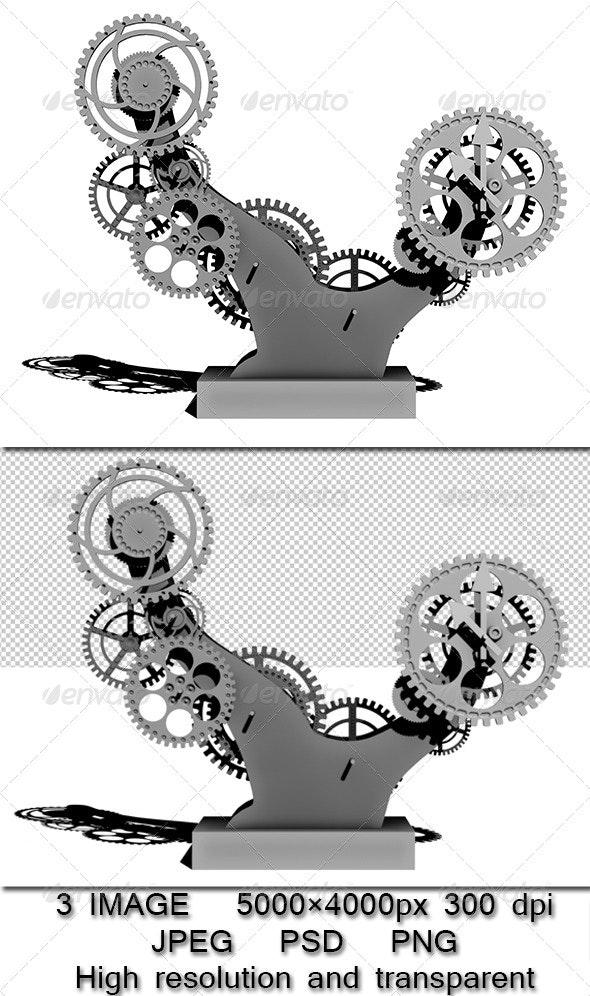 Mechanism bonsai - Objects 3D Renders