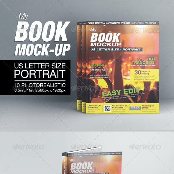 MyBook US Letter Size Mock-up