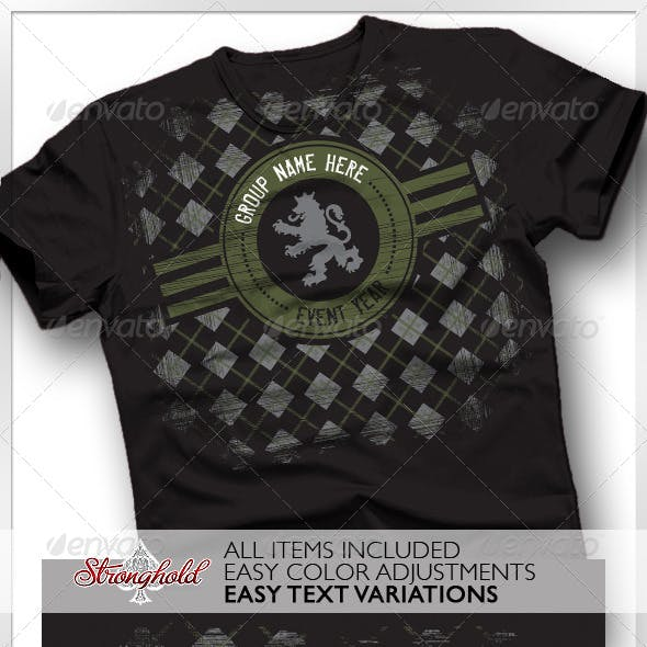 Argyle Crest Military Lion T-shirt