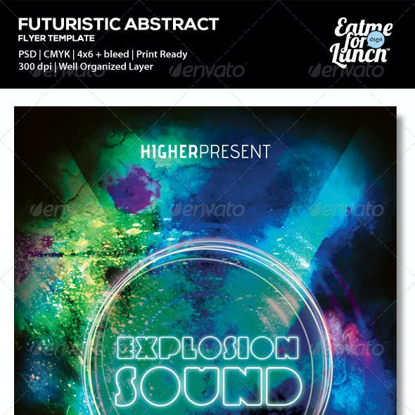 Futuristic Dance/Club Music Flyer Templates