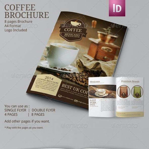 Coffee Brochure Template A4