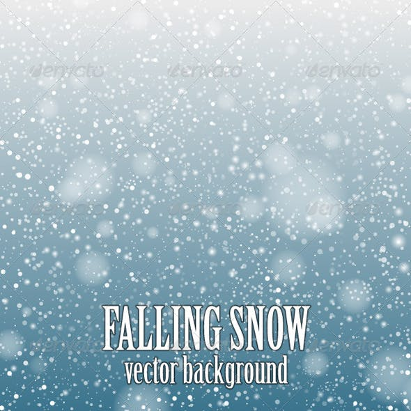 Falling Snow Blue