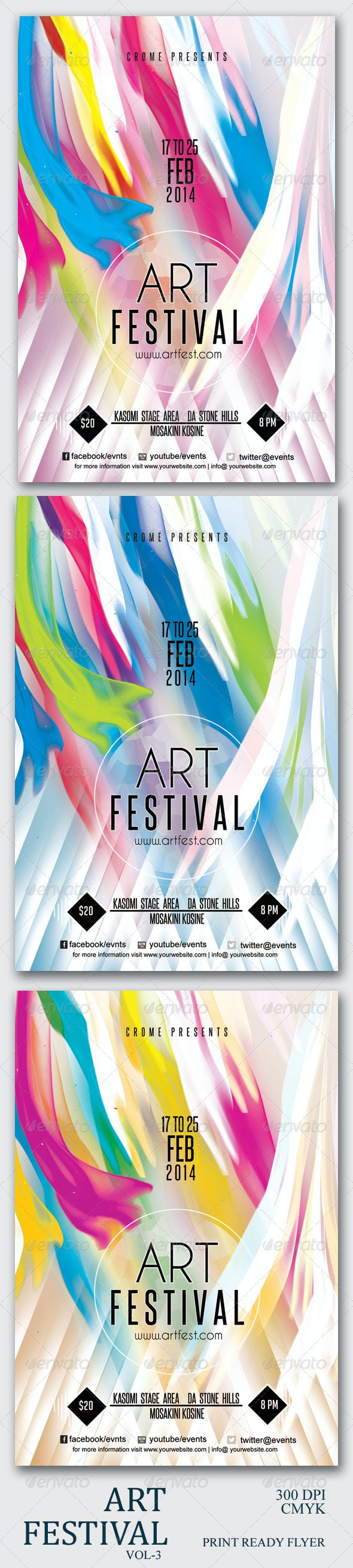 Art Festival Flyer 3 - Clubs & Parties Events