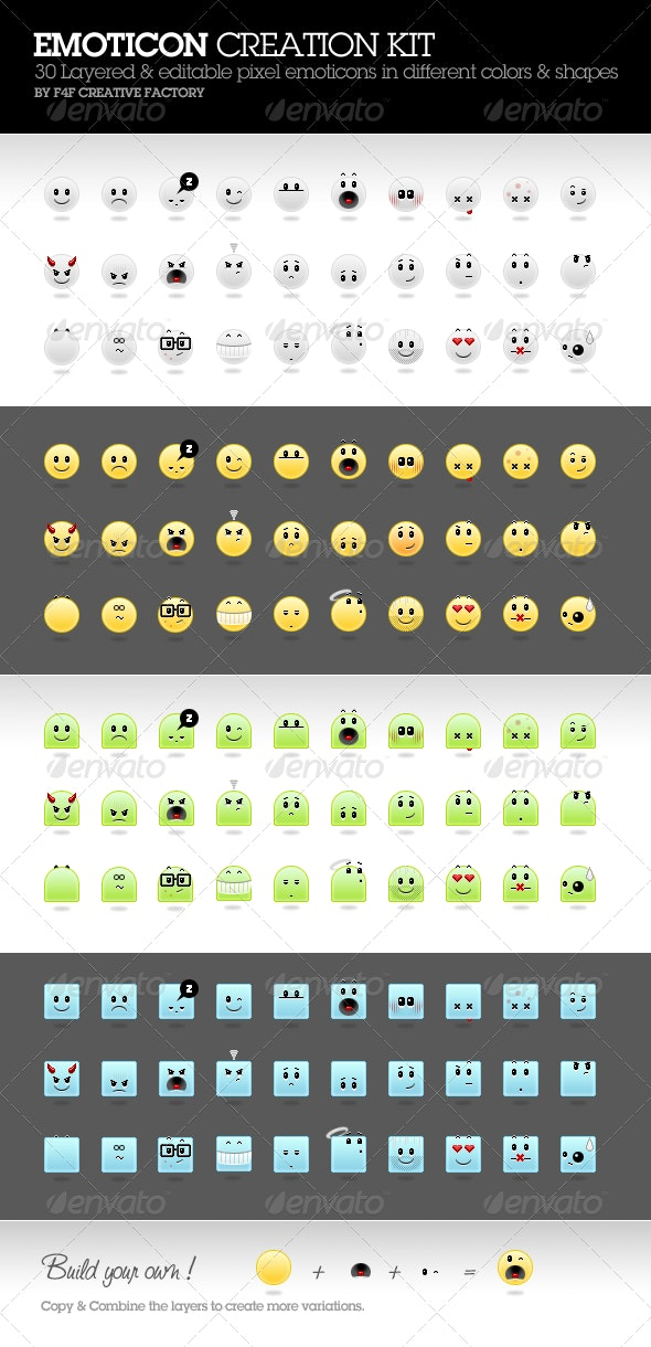 Emoticon Creation Kit - Characters Icons