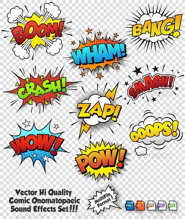 Comic Sound Effects - Miscellaneous Conceptual