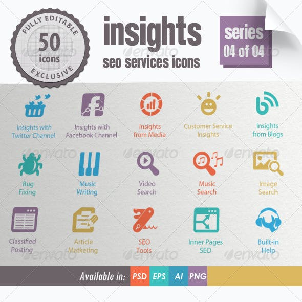 Insights SEO Services Icons - Series 04 of 04