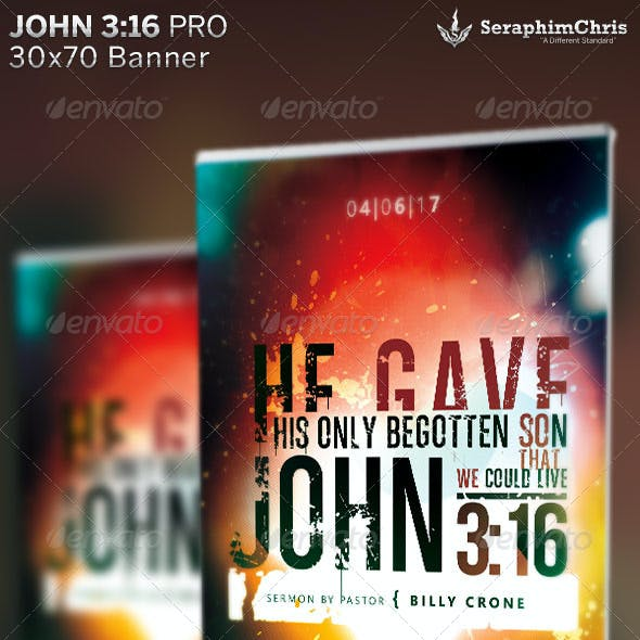 John 3:16 Church Banner Template