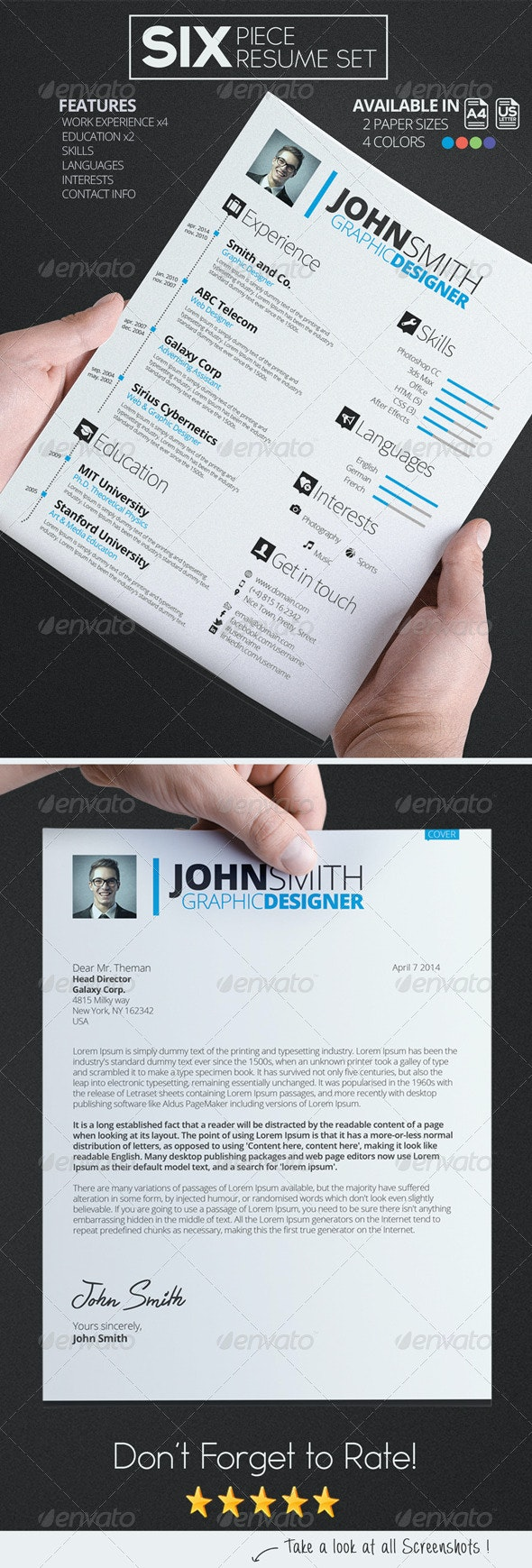 Resume/CV Set - Resumes Stationery