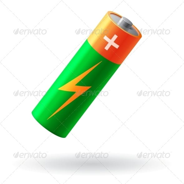 Battery Realistic Isolated Vector Illustration
