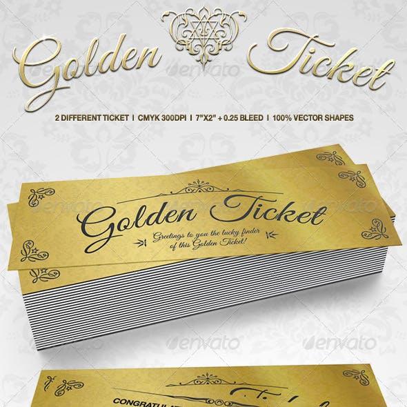 Elegant Golden Tickets