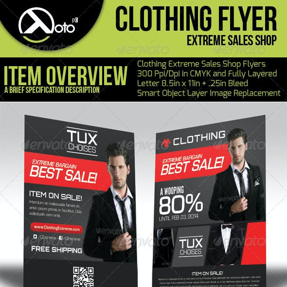 Clothing Extreme Sale Flyers