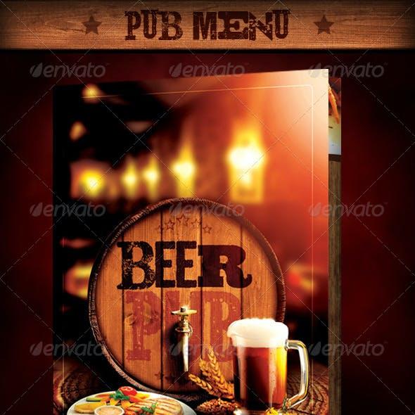 """Template Menu Design and Poster """"Beer Pub"""""""