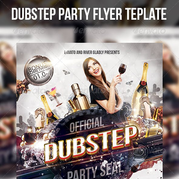 Dubstep Party Flyer Template