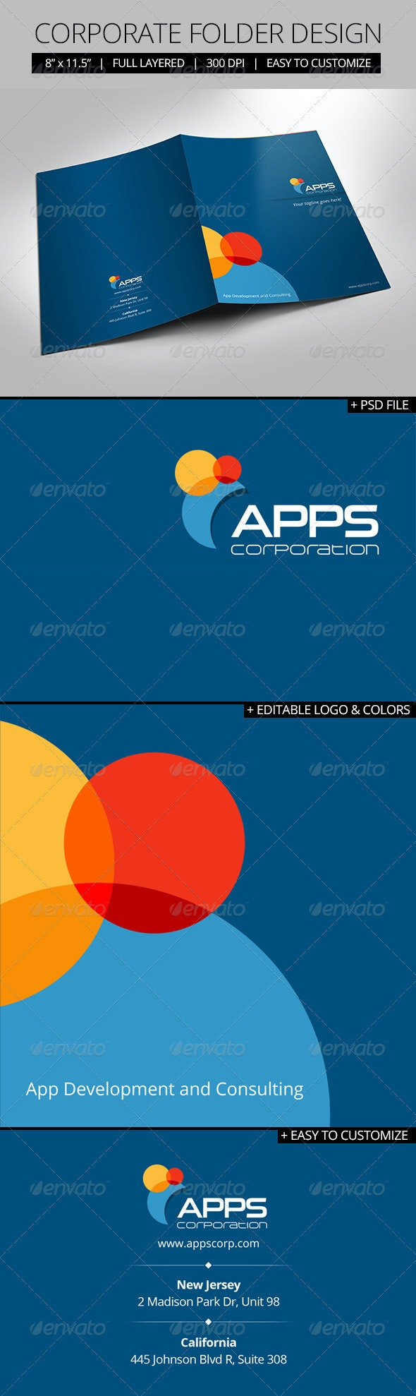 Corporate Folder Design - Stationery Print Templates