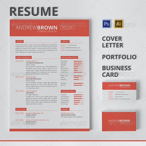 Resume, Cover Letter, Portfolio, Business Card
