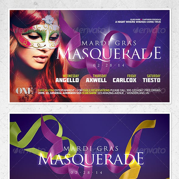 Mardi Gras and Carnival Flyer Template