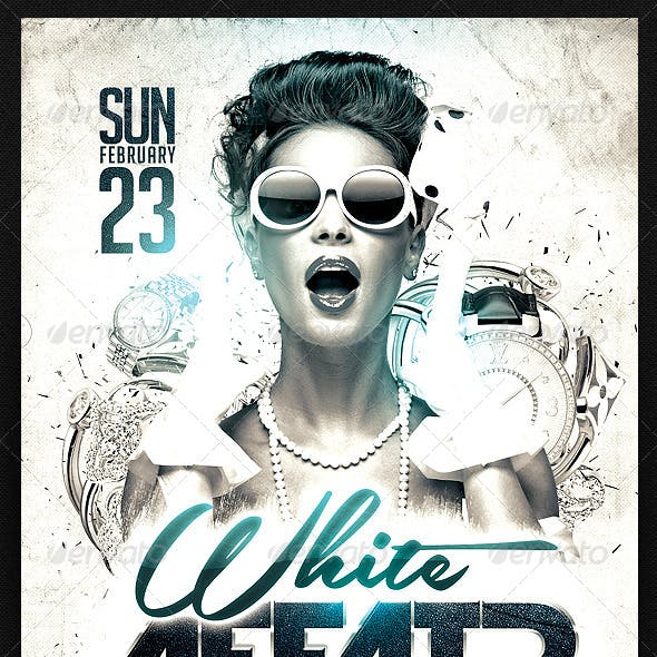 White Affair Flyer Template PSD