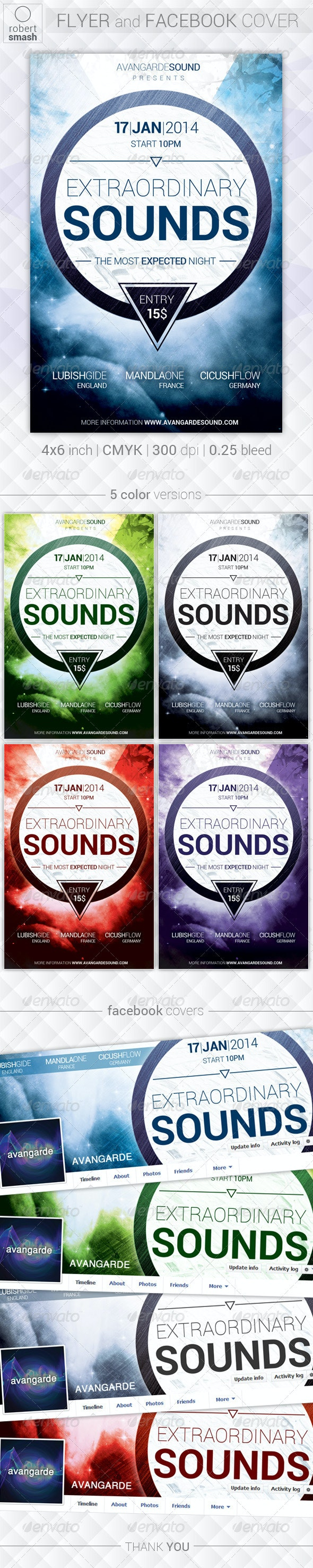 X-Sounds Flyer - Clubs & Parties Events